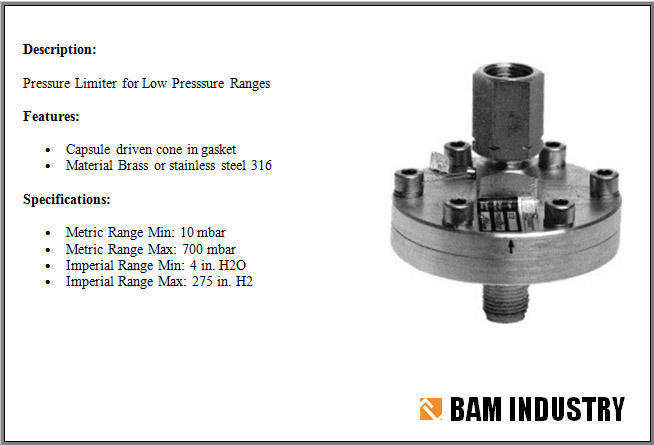 13.Pressure Limiter for Low Presssure Ranges w