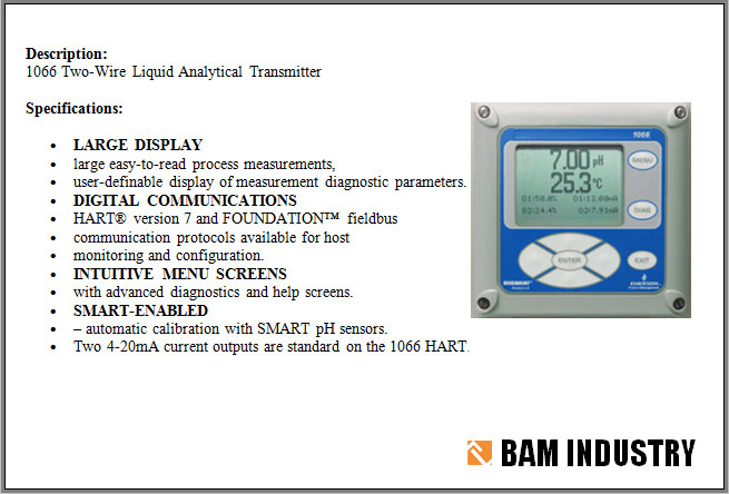 Two-Wire Liquid Analytical Transmitter w